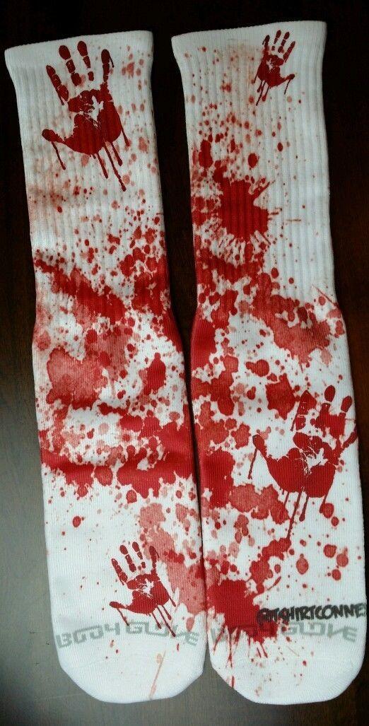 Custom Redrum blood dry fit socks V VI VIII laney bred gamma massacre - $13.99
