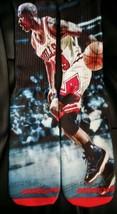 "Custom Jordan ""Bred Moves"" Dry Fit socks III IV V VI VII X XI Bulls TshirtConnex - $13.99"