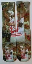 Custom Jordan Pippen Champagne Celebration Dry Fit socks bred cigar III IV V XI - $13.99