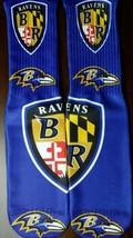 Custom Baltimore Ravens DRY FIT socks NFL gamma laney oreo  - $13.99