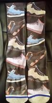 Custom Jordan shoe collage Dry Fit powder blue socks gamma laney I III IV V  - $13.99