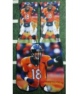 Custom Peyton Manning socks Denver Broncos NFL football blue powder   - $13.99