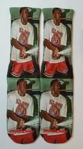 Custom Jordan Cigar Smoke & Champagne Pop Dry Fit socks bred cigar III IV V XI - $13.99