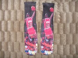 "Custom Jordan ""Dunk On La""Dry Fit Socks Iii Iv V Vi Viii Vii X Xi Gamma Laney Or - $13.99"
