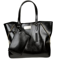 DKNY Black Saffiano Leather Large Tote Satchel Shoulder Bag Hand Bag - $236.61