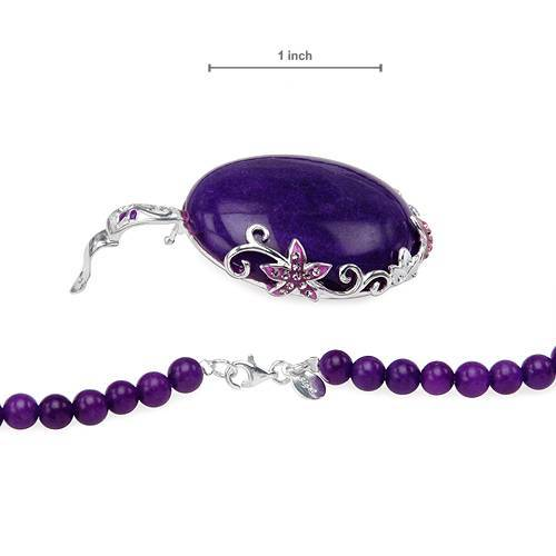 New Necklace With Precious Stones and 925 Sterling silver.