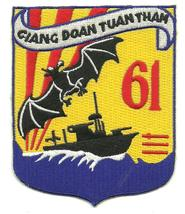 US Army River Patrol Group 61 Giang Doan Tuan Tham Vietnam Patch - $9.99
