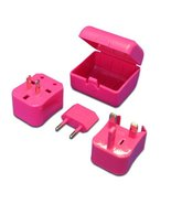 MaximalPower Pink Universal Travel Plug Power Outlet Socket Adapter Conv... - $4.90