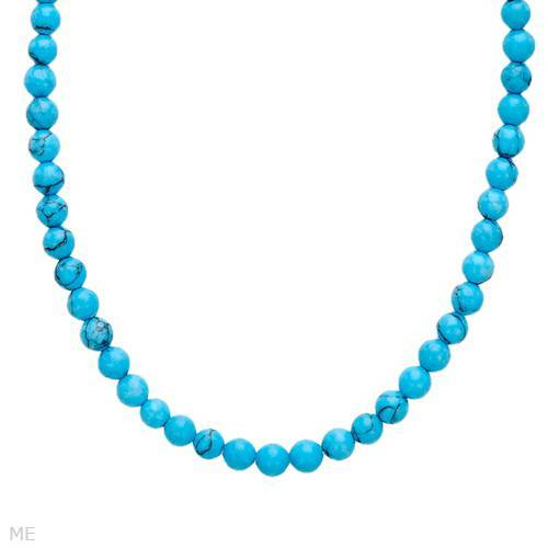 Turquoise necklace designed in 925 sterling silver
