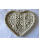 Pampered Chef Hospitality Heart Stoneware Cookie Mold, Unused - 2001 - $13.23 CAD