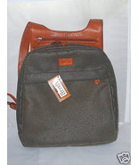 MAGGI B Backpack Handbag Bag Olive Manmade and Tan Leather Trim NWT MSRP... - $74.99