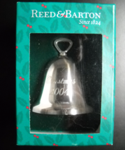 Reed & Barton Christmas Ornament Dated 2004 Christmas Bell Sterling Original Box - $29.99
