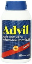 Advil 360 Coated Tablets Ibuprofen Tablets 200mg - $26.54