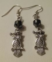 Artisan Crafted Handmade Perched Owl Dangle Earrings  - $5.99