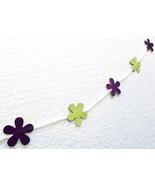 Mini Banner Garland Paper Cardstock Flowers Blo... - $2.85