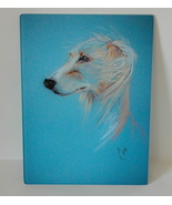 Saluki Dog Art Glass Cutting Board Solomon - $45.00