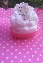 raspberry n' cream valentine cupcake soap, vale... - $5.00