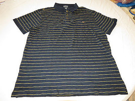 Mens Polo Jeans Co Ralph Lauren short sleeve Polo XL navy striped Shirt ... - $45.53