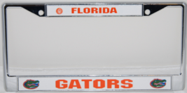 FLORIDA GATORS NCAA CHROME LICENSE PLATE FRAME - $9.99