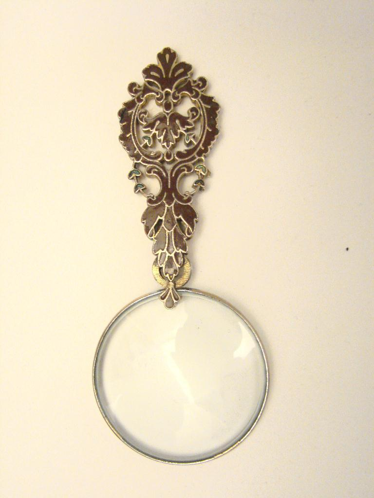 SMALL ORNATE ENAMEL MAGNIFIER
