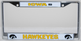 IOWA HAWKEYES NCAA CHROME LICENSE PLATE FRAME - $9.99