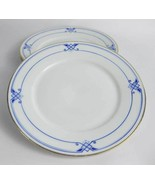 Hutschenreuther Bavaria Dessert/Bread Plates Blue Diamonds Gold Trim(3) - $15.00