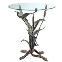 Crane Pair Accent End Table Coastal Heron Birds... - $388.07