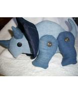Denim Triceratops - $70.00
