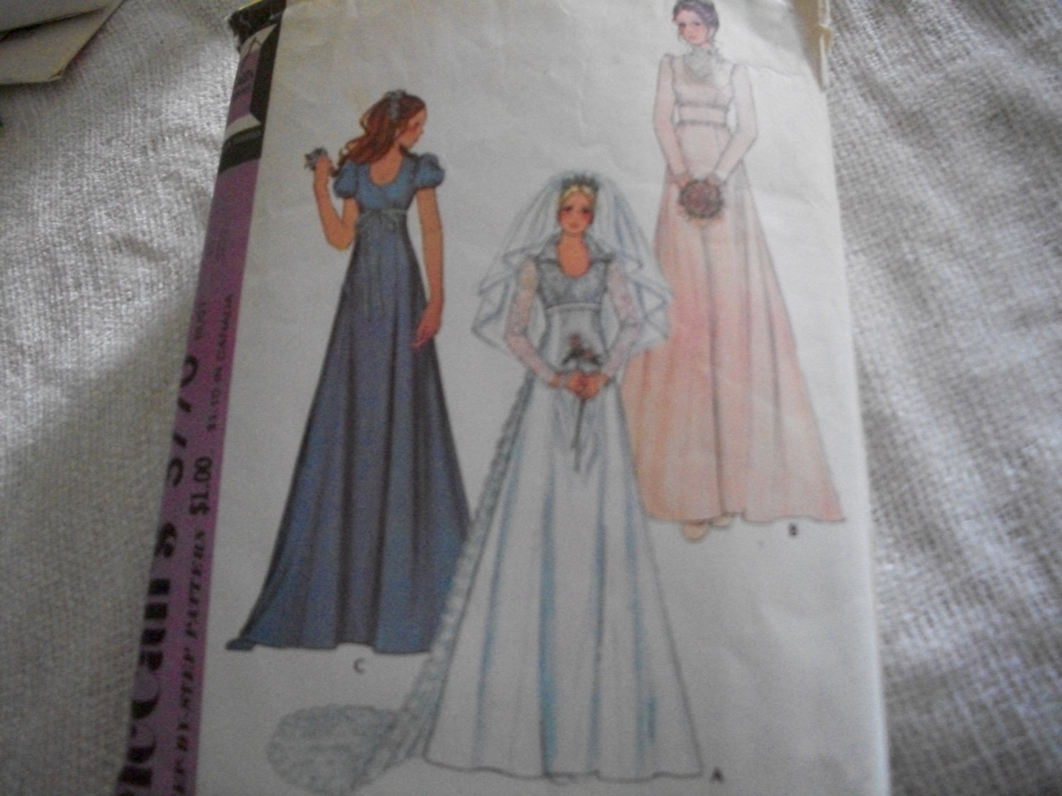 Primary image for Vintage Wedding Dress Pattern McCall's 3770