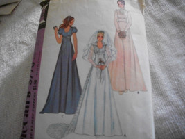 Vintage Wedding Dress Pattern McCall's 3770 - $7.00