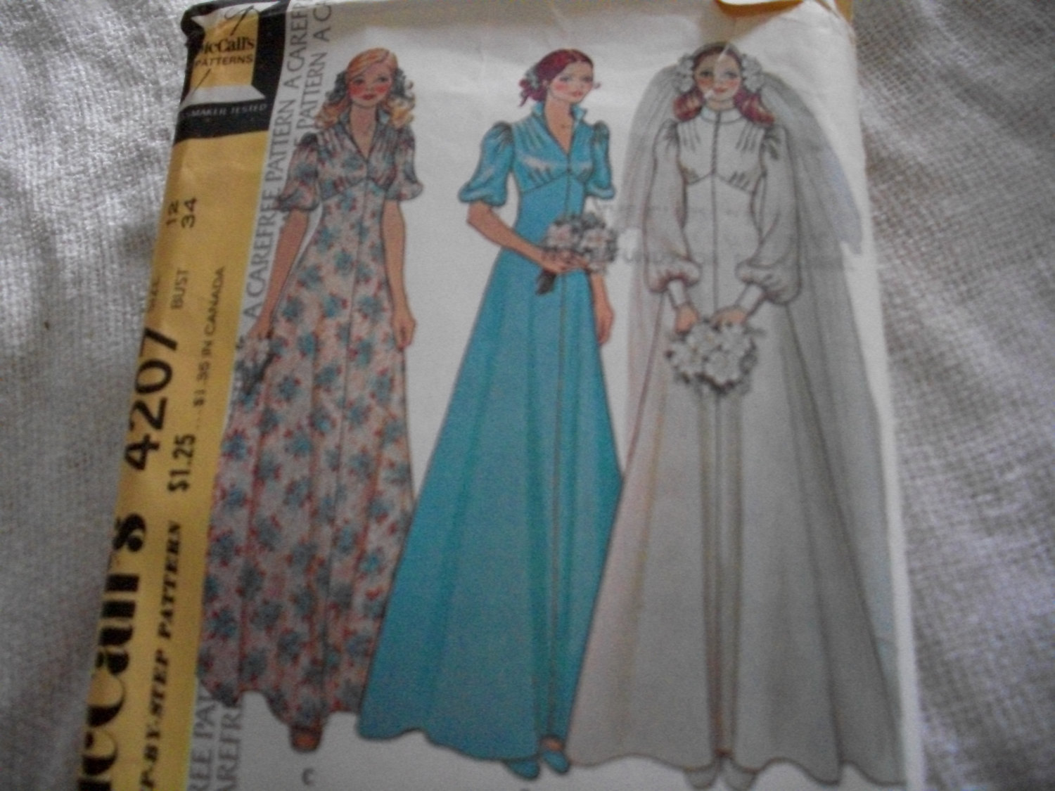 Primary image for Woman's Wedding Dress Pattern McCall's 4207
