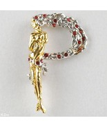 ERTE P made of Gold-Plated Sterling Silver, with Hand-Set Swarovski Crys... - $99.99