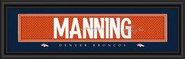 Peyton Manning Denver Broncos Player Signature Stitched Jersey Framed Print - $39.95