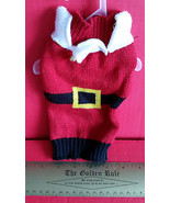 SimplyDog Pet Clothes XXS Christmas Holiday Dog Sweater Belt Santa Suit ... - $7.21