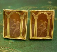 RARE erotic cufflinks Vintage Cuff Link Mythology adonis Men's Swank nud... - $275.00