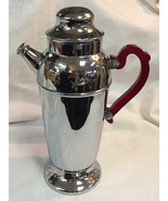 Vintage CHROME with RED LUCITE HANDLE MARTINI P... - $85.00