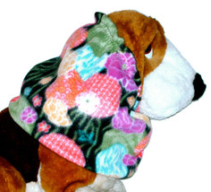 Asian Flowers Lanterns Multicolor Fleece Dog Snood by Howlin Hounds Pupp... - $11.00
