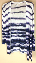 CHICOS White Purple Cardigan Sweater Open Drape Lightweight 3 - $21.28