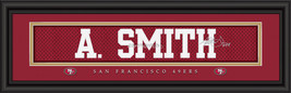 Aldon Smith San Francisco 49ers Player Signature Stitched Jersey Framed Print - $39.95