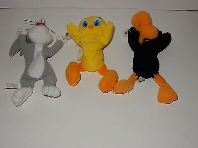 Play by Play Looney Tunes Bugs, Daffy & Tweety Beanie Plush w/Tags