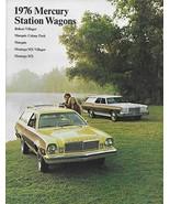 1976 Mercury WAGONS brochure catalog COLONY PARK MARQUIS MONTEGO MX BOBCAT - $8.00