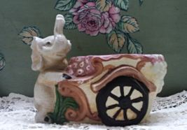 Vintage Elephant With Cart Planter // Decorative Planter // Retro Home D... - ₨678.48 INR