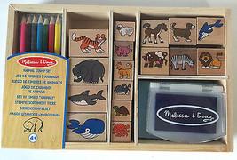 ANIMAL STAMP SET ~ ART KIT ~ Melissa & and Doug ~ 24 pc - $21.78