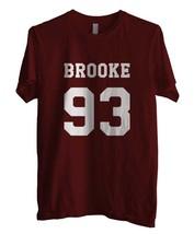 Brooke 93 Men Tee Maroon - $18.00