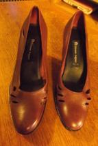 brown  etienne aigner  heels - $30.00