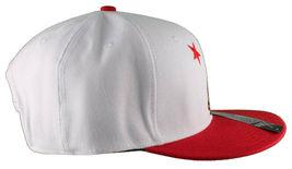 Dissizit! Side Bear White Red Brim Snapback Cap Hat California Star Flag image 3