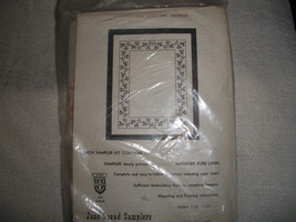Border Sampler Counted Cross Stitch Kit: Comes with Floss, Fabric & Dire... - $14.00