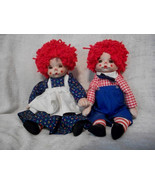 """Lifelike 10"""" Raggedy Ann & Andy Dolls - $65.00"""