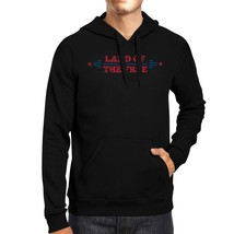 Land Of The Free Unisex Graphic Hoodie Black Crewneck Pullover Gift - $25.99+