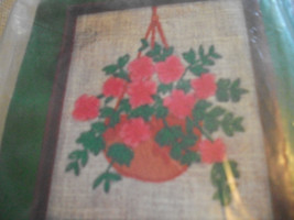 Stitchkins 1767~Azalea Crewel Kit - $10.00